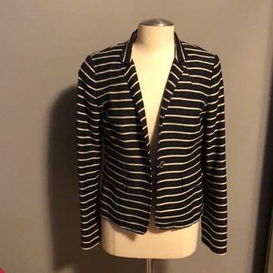 Navy/white stripe blazer